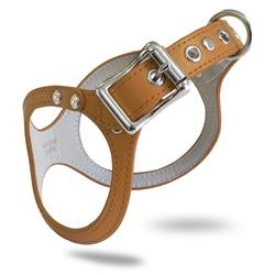 BB2 Dog Harness: Synthetic Leather ~ Caramel