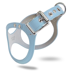 BB2 Dog Harness: Synthetic Leather ~ Blue