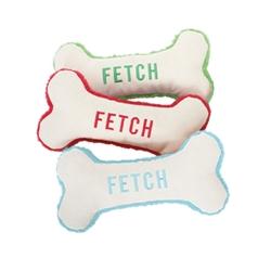 Fetch Canvas Bone Toy