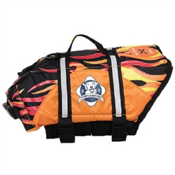 Designer Doggy Life Jacket Flames