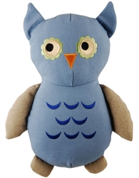 Simply Fido Basic Collection - Big Joe Blue Owl Canvas Rope toy - New*