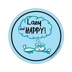 Lazy & Happy - Life of a Happy Dog Oval Magnets