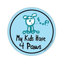 My Kids Have 4 Paws - Life of a Happy Dog Circle Magnets