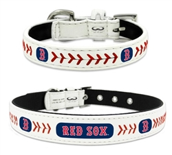 Boston Red Sox - Leather Collars and Leather Leashes