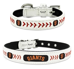 San Francisco Giants - Leather Collar and Leather Leash