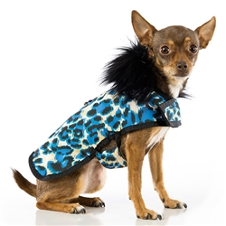 Animal Print Blue Posh Puppy Coat