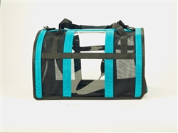 Teal Puppy Shell Carrier