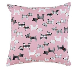 Pink Puppies Throw Pillow