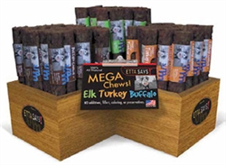 Mega Crunchy Chew Starter Kit-Display & 54 Chews by Etta Says!