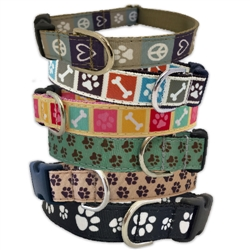 Dog's Life Collection Ribbon Dog Collars & Leashes by Poochie-Pets