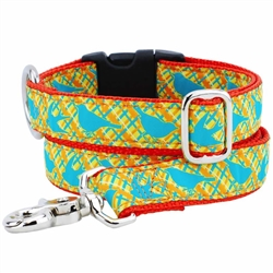 Birds Plaid Essential Collars and Leads