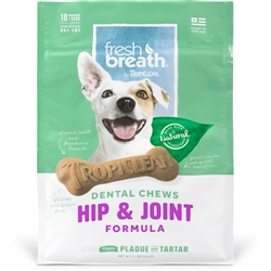 Fresh Breath Chews + Hip & Joint - 10CT (for dogs 25+lbs) 11oz. Package