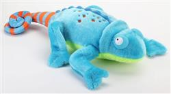 GoDog Amphibianz Chameleon Chew Guard Squeaky Plush Dog Toy