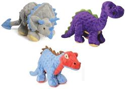GoDog Dinos Chew Guard Squeaky Plush Dog Toy