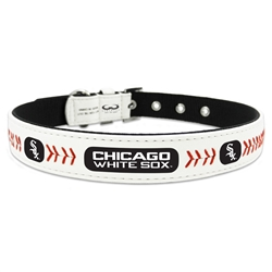 White Sox - Leather Collars and Leather Leashes