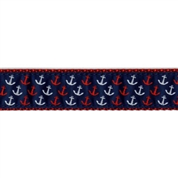 "Red, White, & Blue Anchor - 1/2"" Collars, Leashes and Harnesses"