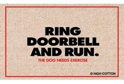 Ring Doorbell Run - Doormat