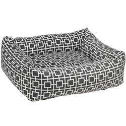 Courtyard Grey Microvelvet Dutchie Bed