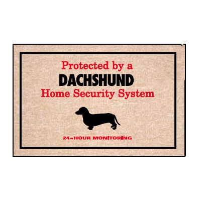 Protected by Dachshund - Doormat