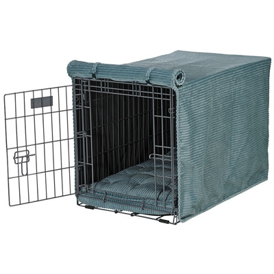 Luxury Crate Cover Blue Bayou Microcord