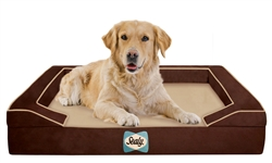 Sealy Lux Premium Autumn Brown Bed for Stocking Retailers