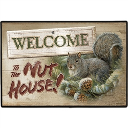 Welcome To The Nut House! Doormat