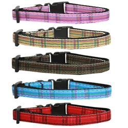 Plaid Nylon Collars and Leads