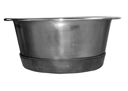 Rubber Bottom Anti-Skid Standard Stainless Steel Food Bowls