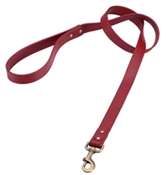 Red Leather Dog Leash