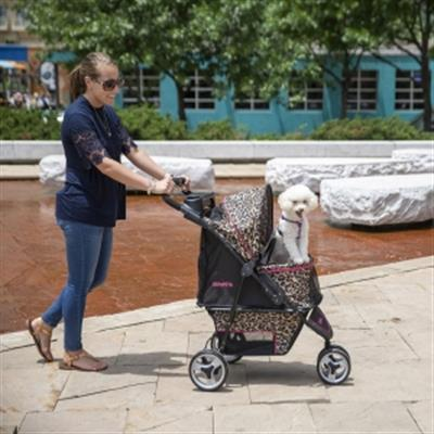 Gen7Pets® Cheetah Promenade™ Pet Stroller for pets up to 50 lbs.