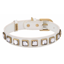 Monte Carlo Collar & Leash - White
