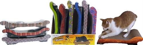 Assorted Sofa Scratch 'n Shape Display Case of 6