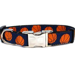 Basketball Collar Silver Metal Buckles