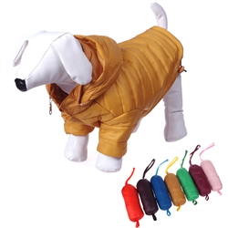 Adjustable 'Sporty Avalanche' Dog Coat W/Popout Hood