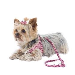 Pink Leopard Starlet Step In Ultra Suede Harness