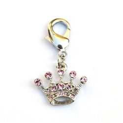 Teenie Crown Clip on Collar Charms