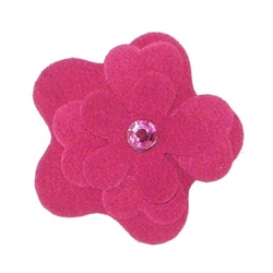 Fuschia Garden Flower Collar Sliders