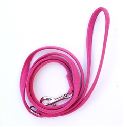 4ft Ultra Suede Leash, Hot Pink