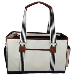 Fashion 'Yacht Polo' Dog Carrier