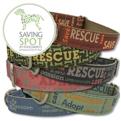 Saving Spot Collection Ribbon Dog Collars & Leashes by Poochie-Pets
