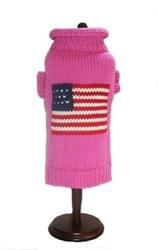 Pink Patriotic Pup Sweater - NEW
