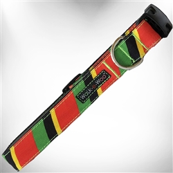 Rasta Stripes Dog Collars and Leads