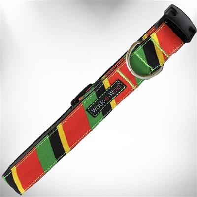 Rasta Stripes Dog Collars and Leads