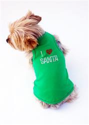 I Love Santa Green Christmas Tank
