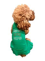 Santa's Little Helper Green Christmas Tank Dress
