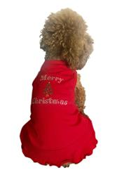 Merry Christmas Tree Red Christmas Tank Dress