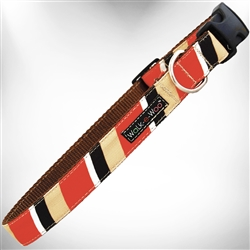 Red & Tan Stripes Dog Collars and Leads