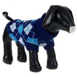 Argyle Style Ribbed Fashion Dog Sweater