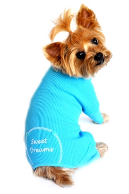 """Blue """"Sweet Dreams"""" Embroidered Pajama"""