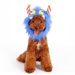 Furry Monster Hat Blue